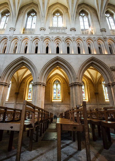 Arch Window Architecture Day Indoors  Religion No People Place Of Worship The Week On EyeEm Wells Cathedral Architecture Cathedral Religious Architecture Low Angle View