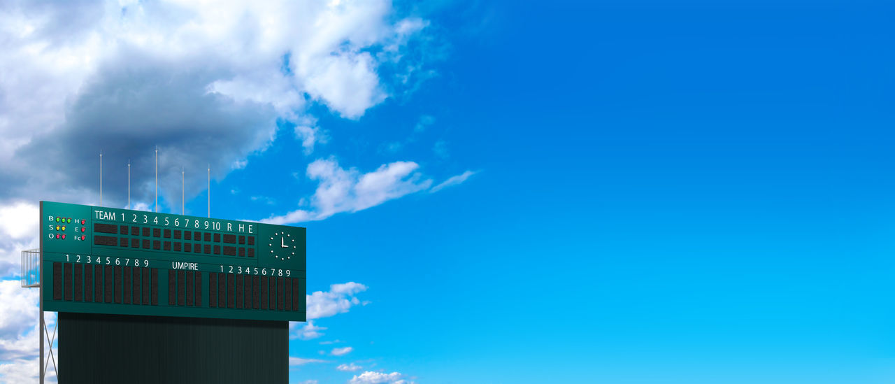 cloud - sky, sky, blue, communication, no people, low angle view, text, nature, day, sign, architecture, outdoors, information, western script, built structure, guidance, number, information sign, building exterior, copy space