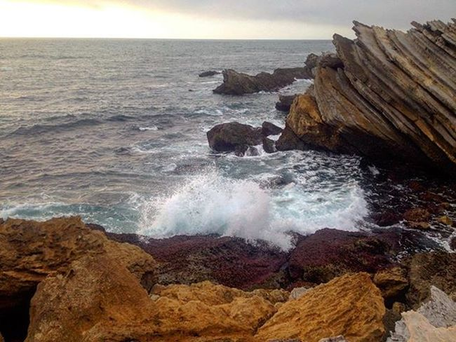 Igersukraine Igportugal Iglisbon Portugal Photogeekdom Waves Atlantic Ocean Iphoneonly IPhoneography Iphonephotography Rocks Atlanticocean The Great Outdoors - 2016 EyeEm Awards