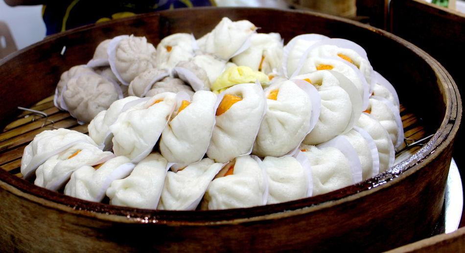 Close-up of dumplings