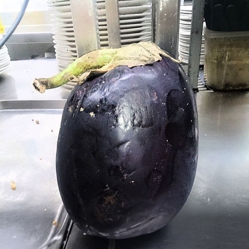 My type of egg... Eggplant Hahahah chefs life so funny Needanewcareer
