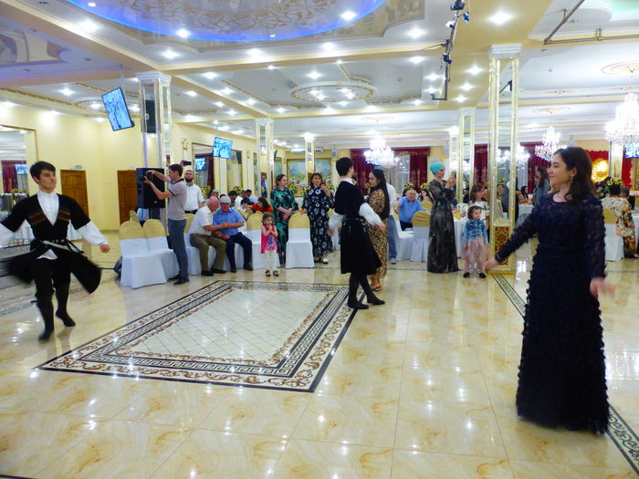 Group of people in shopping mall