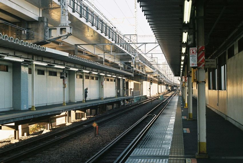 Railroad Track Rail Transportation Transportation Connection Train - Vehicle The Way Forward No People Railroad Station Platform Day Cable Outdoors Architecture Built Structure Public Transportation Japan City Tyokyo EyeEmNewHere
