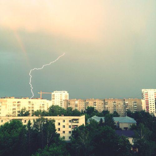 молния и радуга эпично встретились