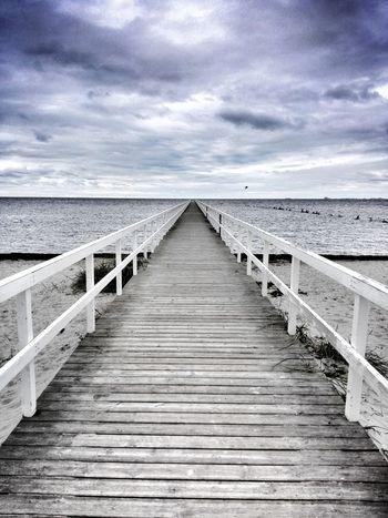 Sea The Way Forward Horizon Over Water Water Sky Cloud - Sky Beach Boardwalk Wood - Material Pier