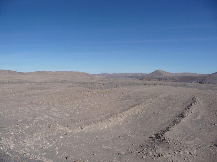Atacama desert Arid Climate Blue Clear Sky Landscape Nature Outdoors Sand Sky