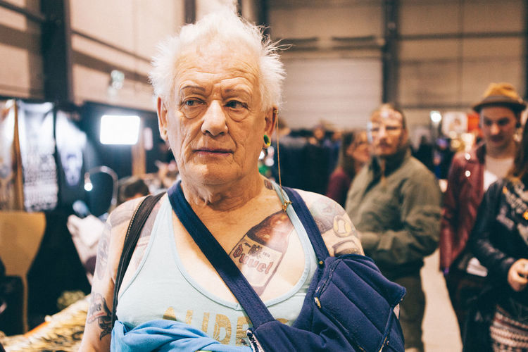 Adult Close-up Drink Duvel Duveltripelhop Front View Indoors  Looking At Camera Men One Man Only Only Men Portrait Senior Adult Senior Men Tattoo Tattoos White Hair The Portraitist - 2017 EyeEm Awards