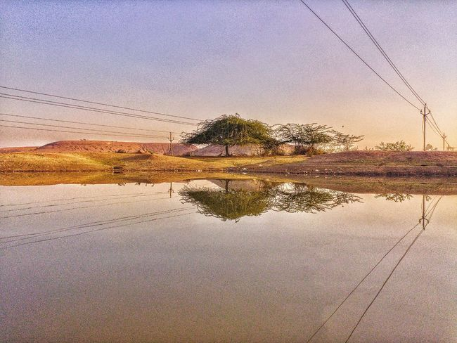 Reflection Reflection Reflections In The Water Water Reflections Water Sky Dawn Sunset Water Nature Reflection Sky No People Outdoors Beauty In Nature Scenics Tree