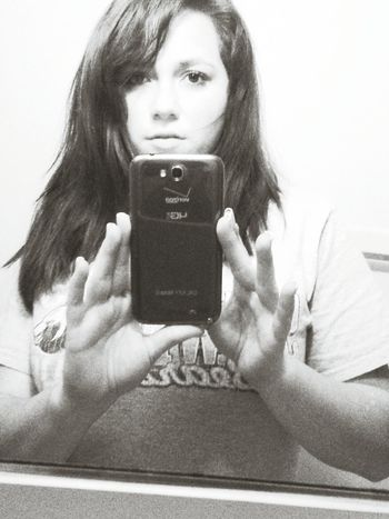 Black And White Selfie Galaxy Note 2 my phone is Huge, but I love it :)