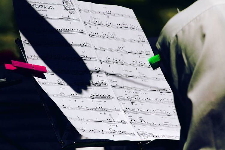 Follow the conductor! Close-up Concert Day Formula Green Music Musical Notes Outdoors Red Sheet Music