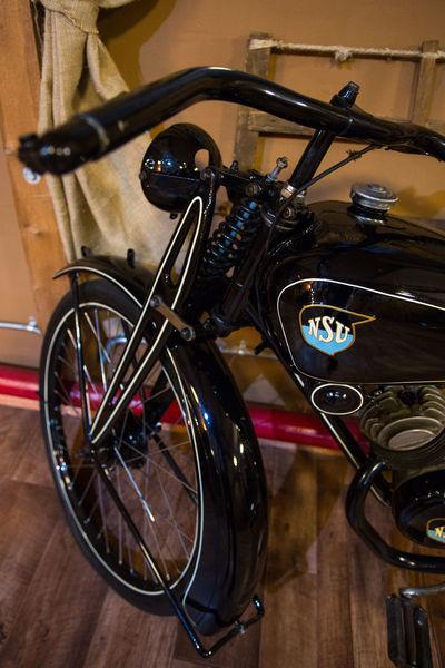 Motorcycle Nsu Retro Black Close-up Indoors  Metal No People Restore Restored Motorcycle Vintage
