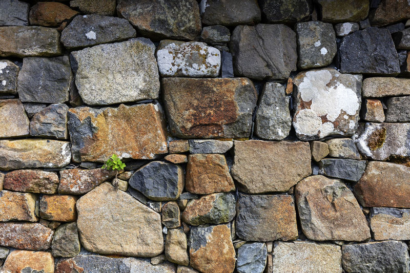 old stone wall,
