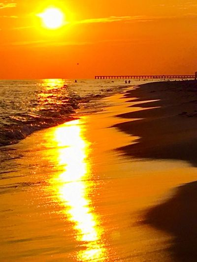 Panama, sunset, sunrise, beach, sea, ocean, water, sun, orange, orange sky, vacation, travel Sunset Orange Color Sea Sun Beach Beauty In Nature Scenics Nature Sunlight Water Reflection Sky Tranquil Scene Yellow Silhouette Tranquility Horizon Over Water Outdoors No People Vacations EyeEmNewHere