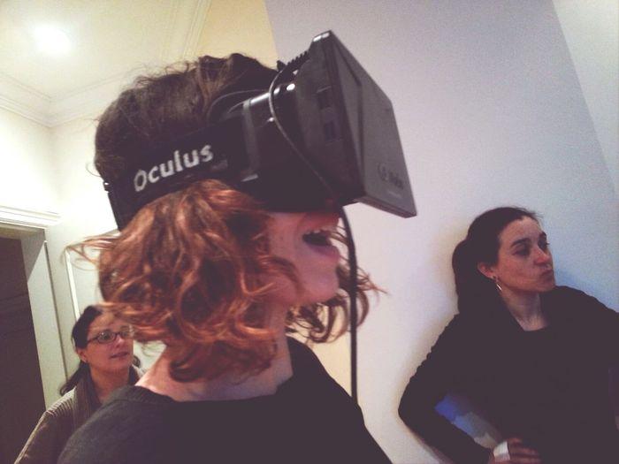 Mirant (porno) 360° amb les Oculus que ens ha deixat provar @carlesribot :O