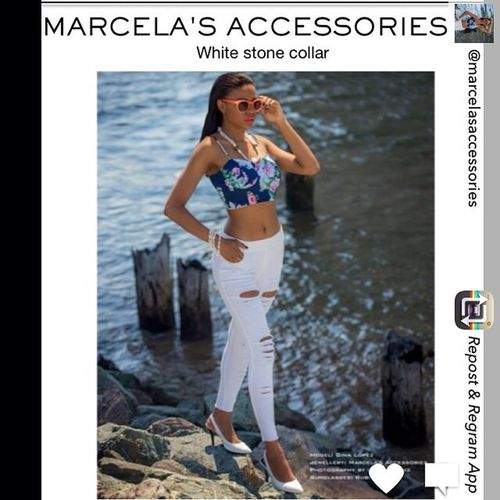 Re-gramming a recent shoot I did of @ginamartopmodel wearing @marcelasaccessories Frawy necklace and bracelet available now. Fashion Lookbook Style Summer Necklace Accessories Byginalopez Stones www.facebook.com/Johnprykephoto
