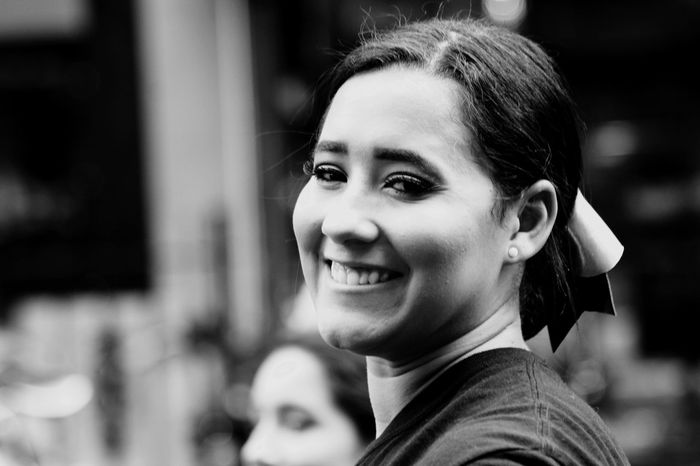 Headshot Smiling Young Adult Focus On Foreground Portrait Real People Happiness Cheerful Young Women Looking At Camera One Person Women Day Outdoors Close-up Adult People Streetphotography Dancefest New York