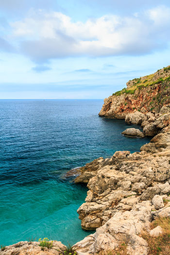 EOS Europe Trip Italia Sicilia Sicily Sicily, Italy Beauty In Nature Canon Canonphotography Day Europe Horizon Over Water Idyllic Italy Land Nature No People Outdoors Scenics - Nature Sea Sky Tranquil Scene Tranquility Turquoise Colored Water