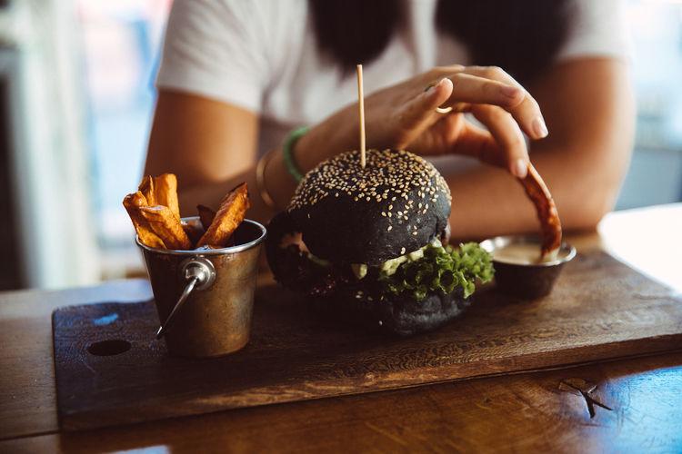 Burger Fast Food Food And Drink Food Hamburger Vegan