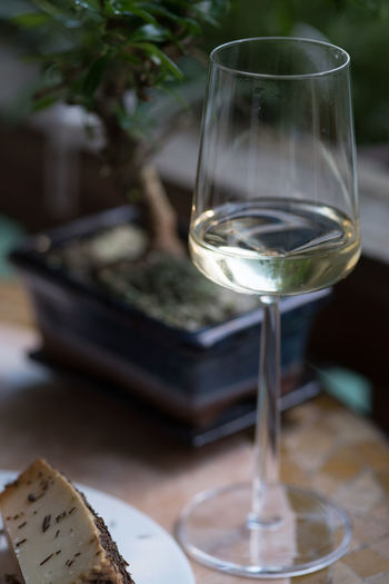 Summer Evening #evening Bonsai Cheese Focus On Foreground Glass Manchego No People Outdoors White Wine Wine