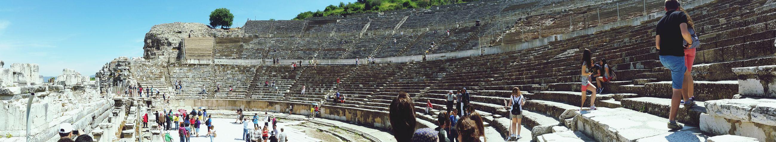 Ephesus Izmir Trip Antique Theater Sunny Day Funny