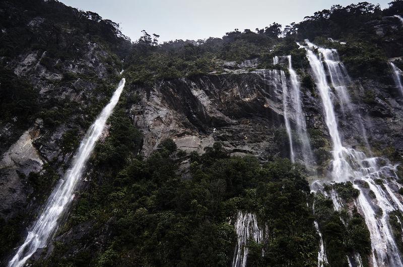Low Angle View Of Waterfalls At Te Anau