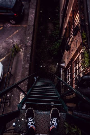 It's higher then it looks like. #highup #urbanphotography #canon #vans #UK #free Low Section Gondola - Traditional Boat Shoe Steps Steps And Staircases Staircase
