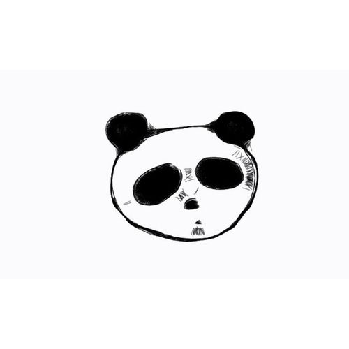 I ♥ PANDA Doodle Doodling Cute Panda sketch random bw photograph