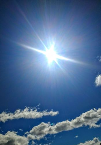 Sunbeam Sunlight Blue Sky, White Clouds EyeEm Market © EyeEm Nature Lover