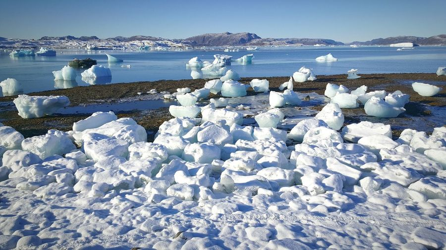 Sea Outdoors Nature Water Beach No People Beauty In Nature Sky Day Narsaq Peaceful Place Greenland Cold Temperature Mountain Southgreenland NarsapIlua Ice Nuan Thebiggesticelandintheworld Ilovegreenland Mygreenland.gl Worthtovisit Greelandicflag Icebergs