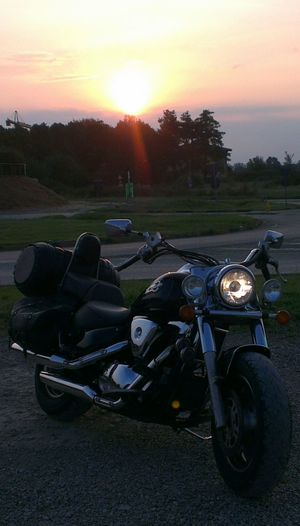 Partenza per il mare in moto, come sempre ad orari disumani! Bike Life On The Road Bikers Foto Italiane