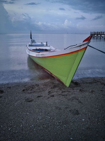 Nautical Vessel Transportation Water Mode Of Transport Beach Sea Day No People Outdoors Nature Horizon Over Water Sky Beachside Seascape Sea Life EyEmNewHere Travel Photography Travel Destinations Transportation People EyeEmNewHere Perspectives On Nature Be. Ready.