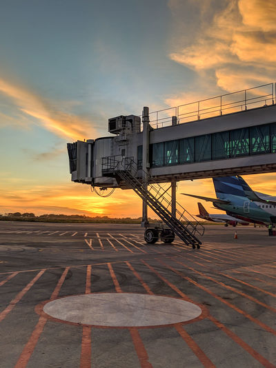 Sunset in the airport