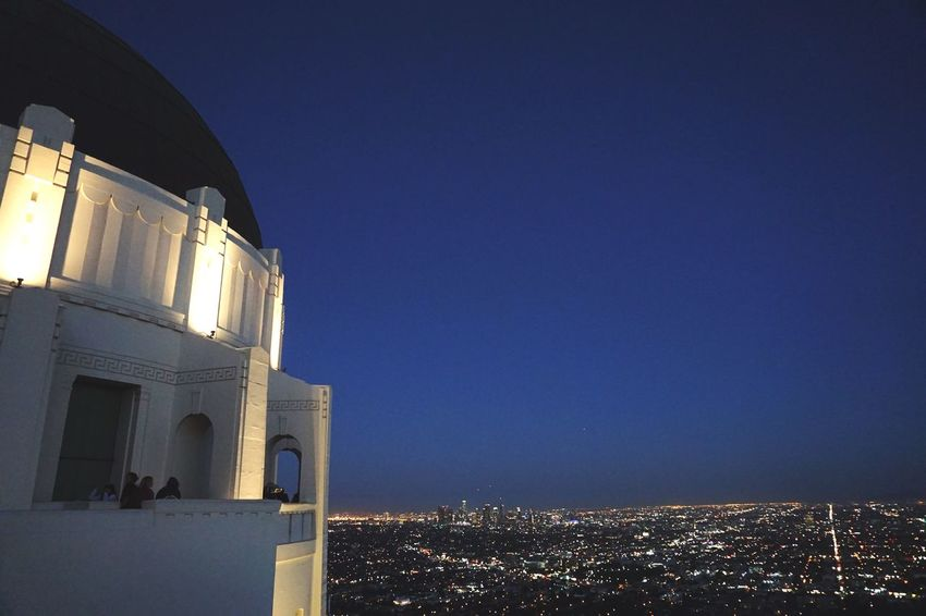 EyeEm Selects Sky Architecture Built Structure Building Exterior Blue Cityscape Griffith Observatory Nightphotography Night Lights