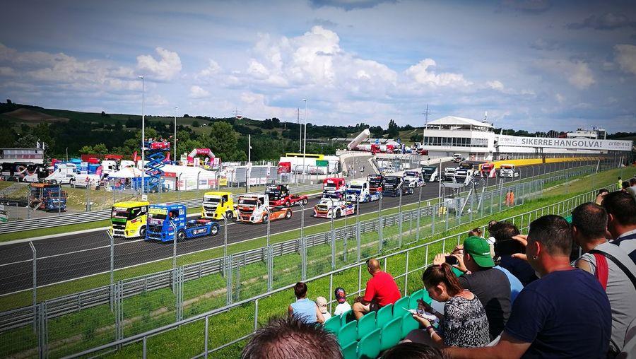 Hungarian truck fest in Hungaroring Truckracing Hungaroring Truckfest Truck Competition Sport Sports Team Sky Cloud - Sky