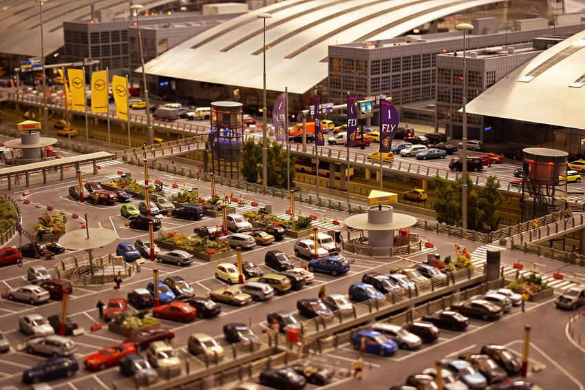 Miniatur Wunderland, Hamburg Area Cars Colours Hamburg The Week On EyeEm View Airport Architecture Built Structure Hamburg Airport Indoors  Is It Real? Land Vehicle Man Made Object Miniatur Wunderland Miniature Modelling No People Parking Transportation Unreal Visiting