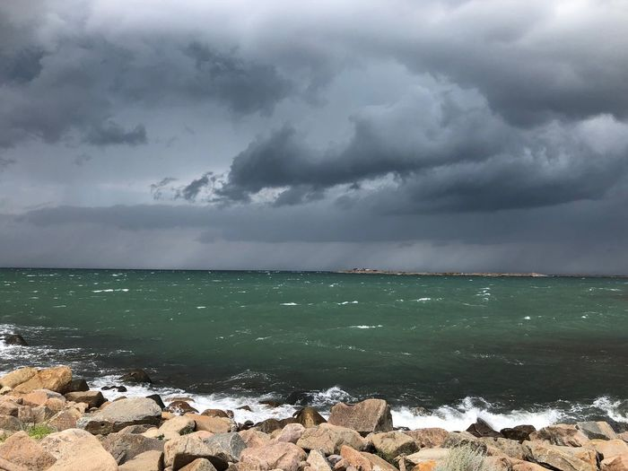 Sweden Sverige Strandpromenaden Varberg Cloud - Sky Water Sky Sea Beauty In Nature Storm Nature Dramatic Sky Outdoors Storm Cloud Horizon Over Water No People Thunderstorm Rock Power In Nature First Eyeem Photo My Best Travel Photo