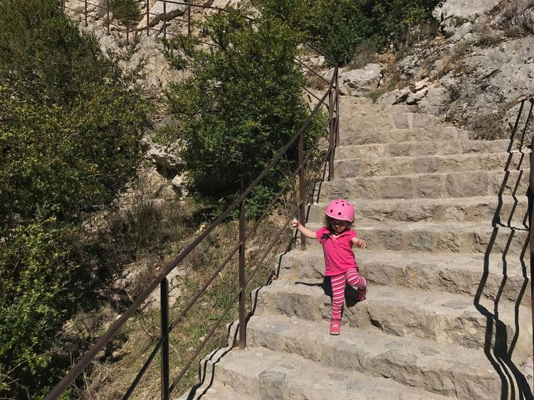 Gorge Du Verdon Full Length One Person Rock - Object Adventure Outdoors Child Childhood Day One Girl Only Climbing Courage Children Only People Nature Beauty In Nature Adult