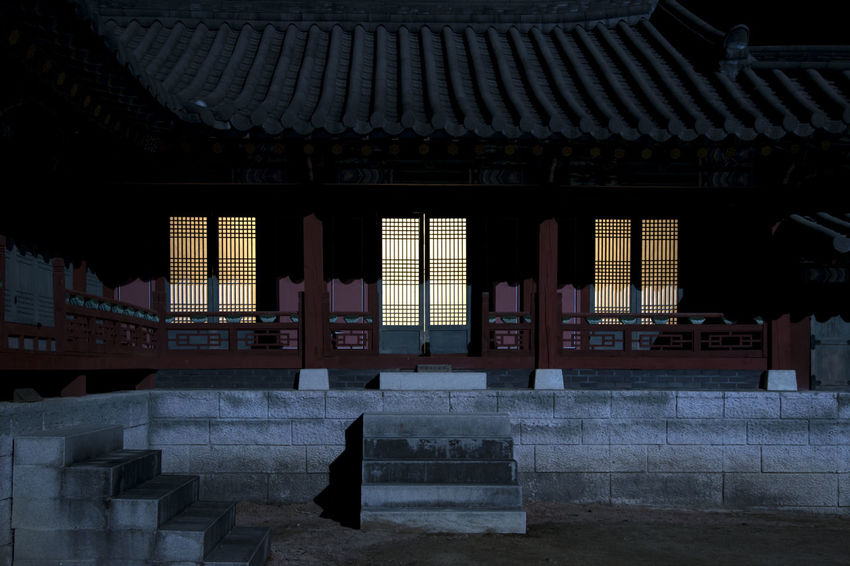 winter night view of Mungyeongsaejae Drama Shooting Place in Mungyeong, Gyeongbuk, South Korea Dark Darkness Korean Traditional Architecture Mungyeongsaejae Night Scene Winter Wintertime Architecture Belief Building Building Exterior Built Structure Day History Night Night Scenery  Night Scenes Night View No People Outdoors Place Of Worship Religion Roof Shrine Spirituality Staircase Travel Destinations Winter Night