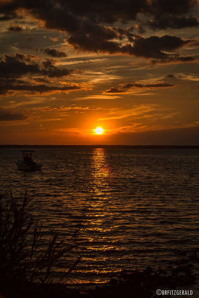 Sunset Park in Harvey Cedars, Long Beach Island, NJ. Atmosphere Atmospheric Mood Beauty In Nature Clouds Clouds And Sky Harvey Cedars Horizon Over Water Idyllic Jersey Shore Light Long Beach Island Ocean Outdoors Sea Seascape Sky Sun Sunset Sunset Park Tranquil Scene Water Wave