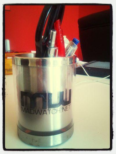 bah oui une tasse à café peut servir à plein de choses :-D Working #madwatch