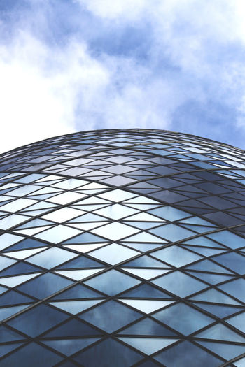 2016 Architecture Blue Sky Blue Sky And Clouds Blue Sky White Clouds Building Exterior Built Structure City Cloud Clouds Clouds & Sky Clouds And Sky Day Gherkin Gherkin Building Gherkin Tower London Low Angle View Modern No People Sky Summer The Gherkin The Gherkin Building Uk