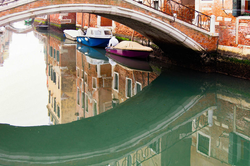 Venetian bridge Venice, Italy Architecture Bridge Building Exterior Built Structure Canal Day Nautical Vessel No People Outdoors Reflections Transportation Water