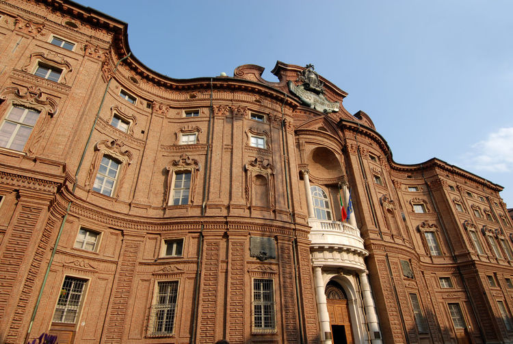Palazzo Carignano is a historic building in the center of Turin, a fine example of Baroque architecture by Guarini. It was the seat of the first Parliament of the Kingdom of Italy. Low Angle View Building Exterior Sky Architecture Built Structure History The Past No People Building Window Travel Destinations Day Arch Clear Sky City Architectural Column Tourism Travel Outdoors Ancient History Turin Turin Italy Palazzo Carignano Palazzo Carignano Torino Guarini