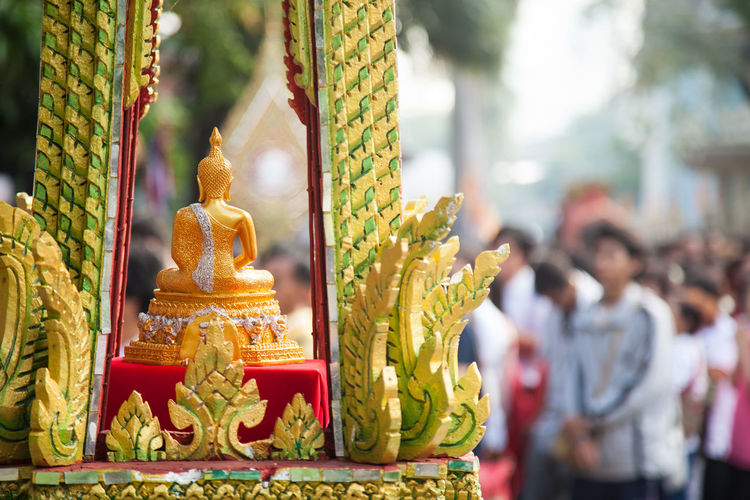 Day Focus On Foreground Gold Colored Golden Color No People Outdoors Place Of Worship Religion Sculpture Spirituality Statue