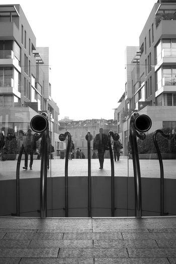 Milano Milan,Italy City Architecture First Eyeem Photo Gae Aulenti Blackandwhite Black & White Blackandwhite Photography Black And White Collection  Piazza Piazza Gae Aulenti Built Structure Building Exterior Day Outdoors Sky No People EyeEmNewHere