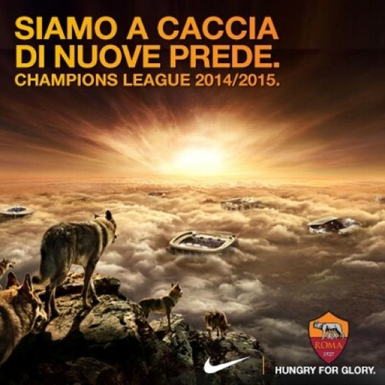 The wolves are coming soon... @officialASroma Championsleague Hungryforglory Forzaroma Comingsoon