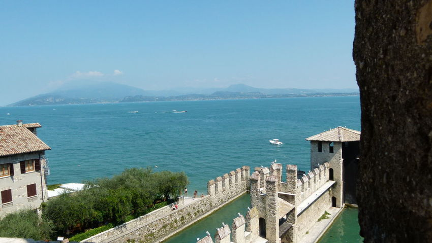 Architecture Castle Clear Sky Day High Angle View Horizon Over Water Italy Lake Lake View Nature Outdoors Panasonic Fz100 Scenics Sirmione Sky Travel Destinations Water
