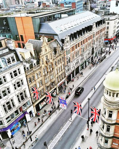 The busiest shopping street I know from above London Oxford Street  Shopping Cityscapes From The Rooftop Buildings Architecture Streetphotography From Above  A Bird's Eye View