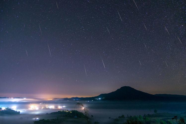 Geminidmeteorshower Sky Space Star