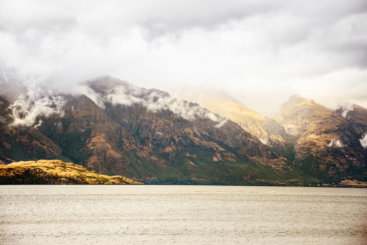 Queenstown New Zealand South Island South Island New Zealand Mountain Mountain Range Mountains Mountain View Cloud - Sky Clouds Low Clouds Lake Lake View Lakeside Lakeshore
